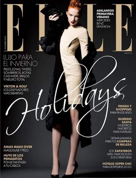 <em>Elle Mexico</em> December 2010 Cover | Johanna Fosselius by Alexander Neumann