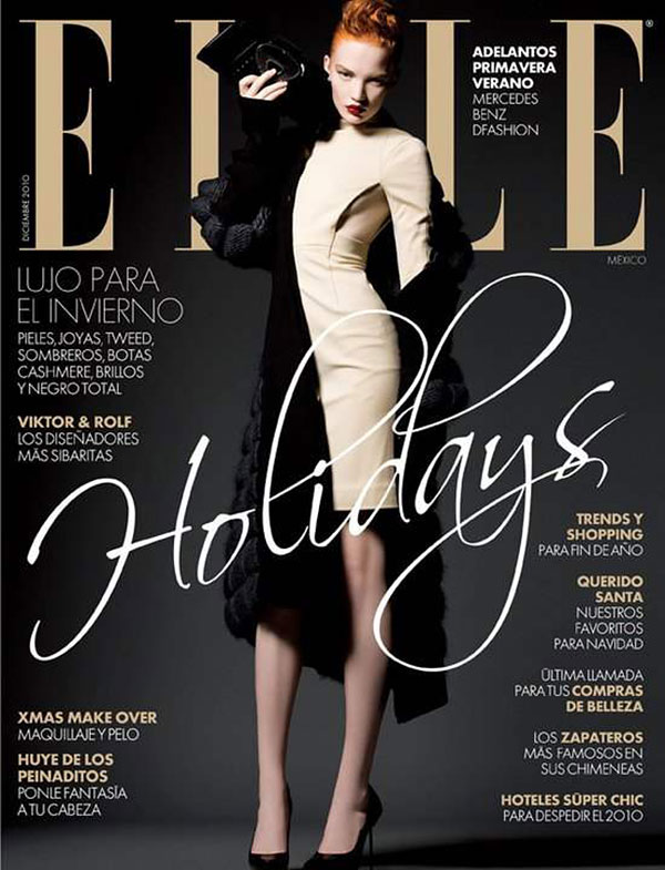 Elle Mexico December 2010 Cover | Johanna Fosselius by Alexander Neumann