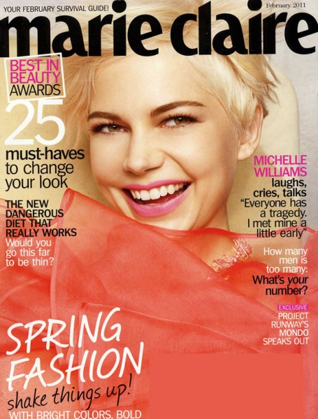 <em>Marie Claire US</em> February 2011 Cover | Michelle Williams by Tesh