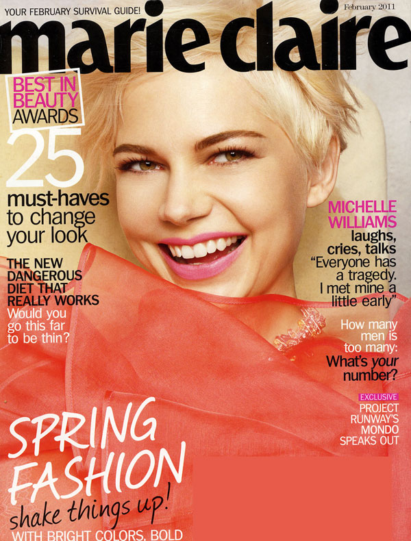 Marie Claire US February 2011 Cover | Michelle Williams by Tesh