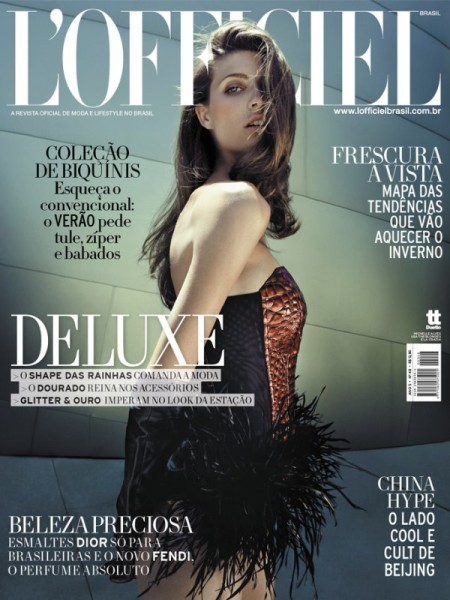 <em>L&#8217;Officiel Brazil</em> January 2011 Cover | Michelle Alves by Karine Basilio