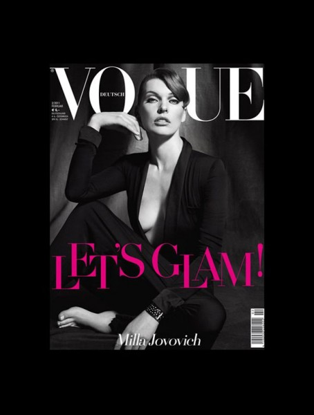 Milla Jovovich for Vogue Germany February 2011