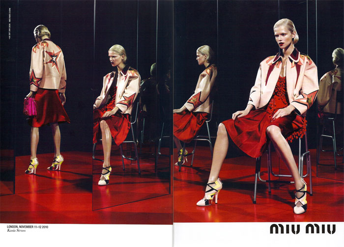Miu Miu Spring 2011 Campaign Preview | Kasia Struss by Mert & Marcus
