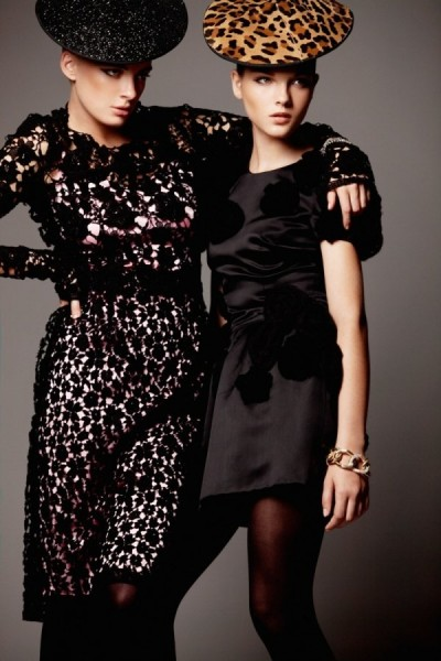 Mayara Rubik Marchi &#038; Julia Dunstall by Alexander Neumann for <em>Elle Mexico</em> November 2010