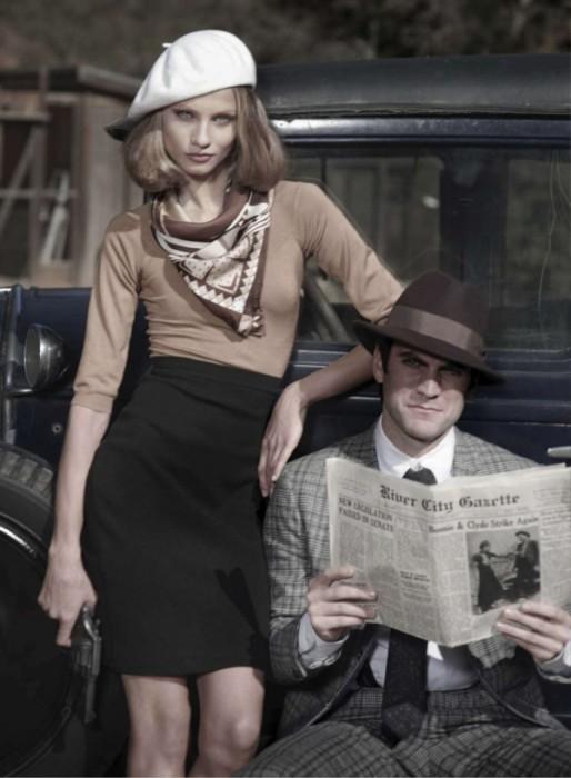 Harper's Bazaar US March 2010 | Anna Selezneva & Wes Bentley by Peter Lindbergh