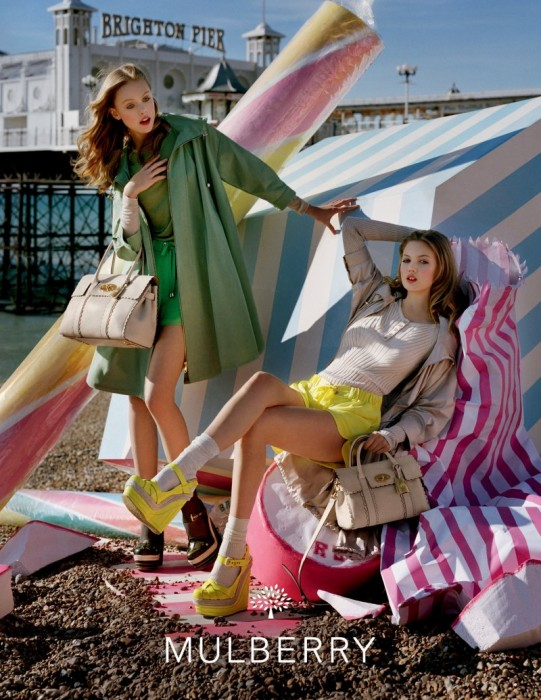 Lindsey Wixson & Frida Gustavsson for Mulberry Spring 2012 Campaign by Tim Walker