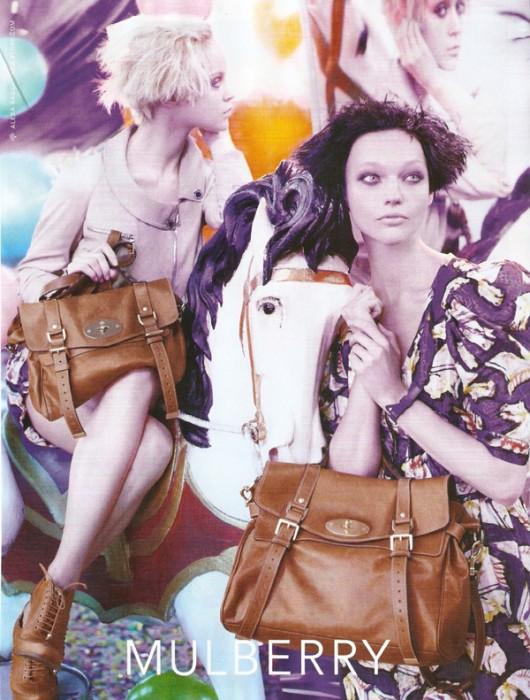 Mulberry Spring 2010 Campaign Preview   Sasha Pivovarova & Viktoriya Sasonkina