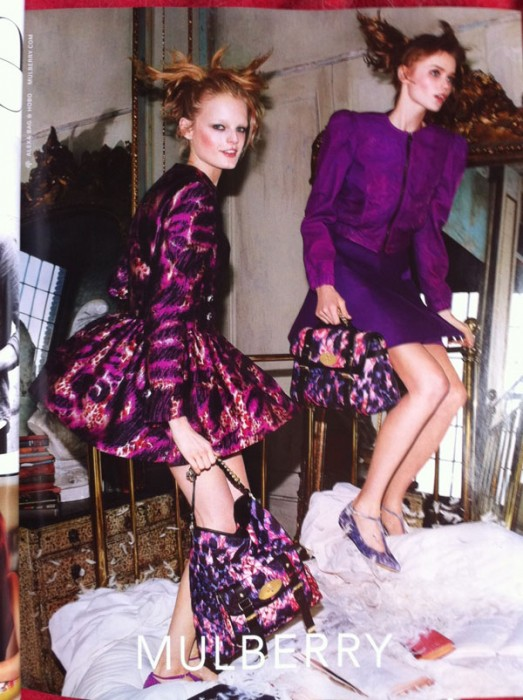 Mulberry Fall 2010 Campaign Preview | Abbey Lee & Hanne Gaby by Steven Meisel