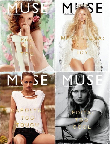 <em>Muse</em> Winter 2010 Covers | Paz de la Huerta, Carolyn Murphy, Edita V & Magdalena