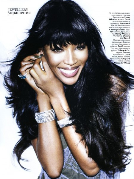 Naomi Campbell by Matt Irwin | Vogue Russia April 2010
