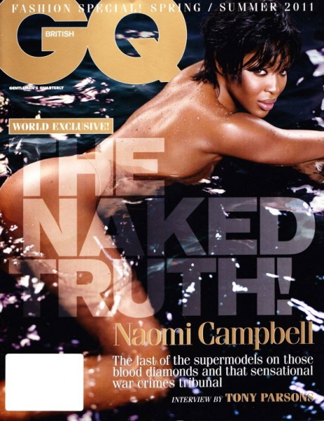 <em>GQ UK</em> S/S 2011 Cover | Naomi Campbell by Vincent Peters