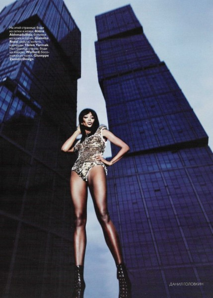 Naomi Campbell by Danil Golovkin | <em>Vogue Russia</em> April 2010