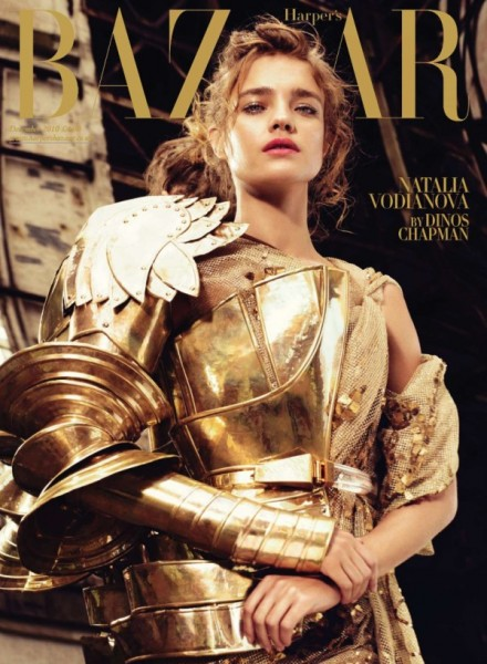 <em>Harper&#8217;s Bazaar UK</em> December 2010 Cover | Natalia Vodianova by Michelangelo di Battista