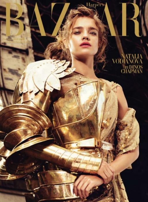 Harper's Bazaar UK December 2010 Cover | Natalia Vodianova by Michelangelo di Battista
