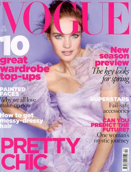 Vogue UK February 2010 Cover | Natalia Vodianova by Nick Knight