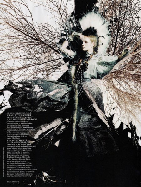 Vogue UK February | Natalia Vodianova by Nick Knight