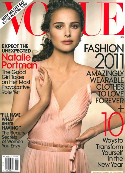 <em>Vogue US</em> January 2011 Cover | Natalie Portman by Peter Lindbergh
