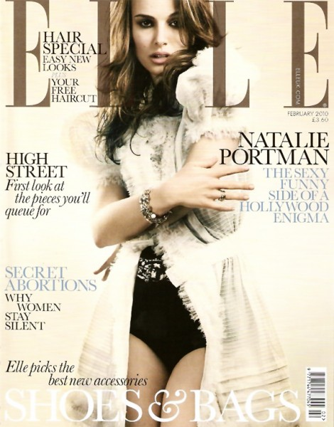 Elle UK February 2010 Cover | Natalie Portman by David Slijper
