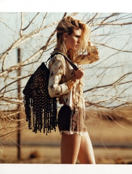 Natasa Vojnovic by Nicolas Moore in Autostop | <em>Vogue España</em> April 2010