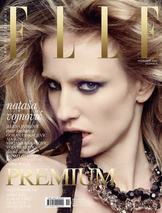 Elle Serbia November 2010 Cover | Natasa Vojnovic by Dusan Reljin