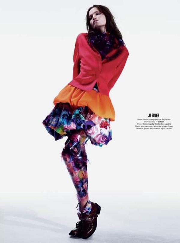 Natasha Poly by Willy Vanderperre for V Magazine #69