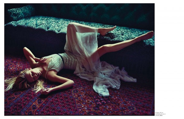 Natasha Poly is Sexy in Sheer for Mario Sorrenti's Vogue Paris Story