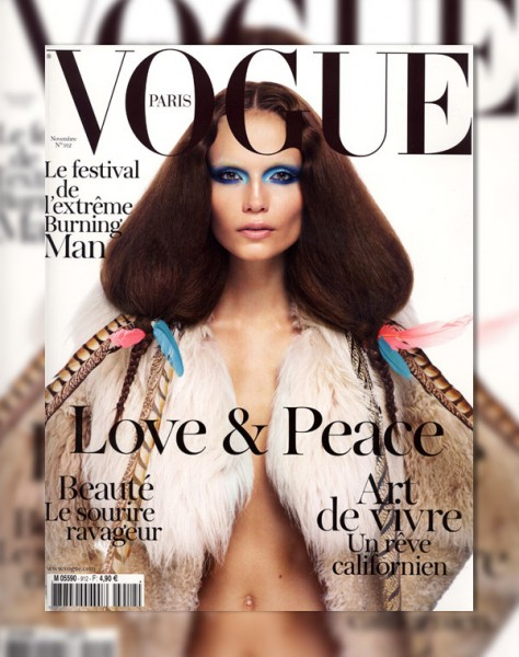 Vogue Paris November 2010 Cover | Natasha Poly by Mario Sorrenti