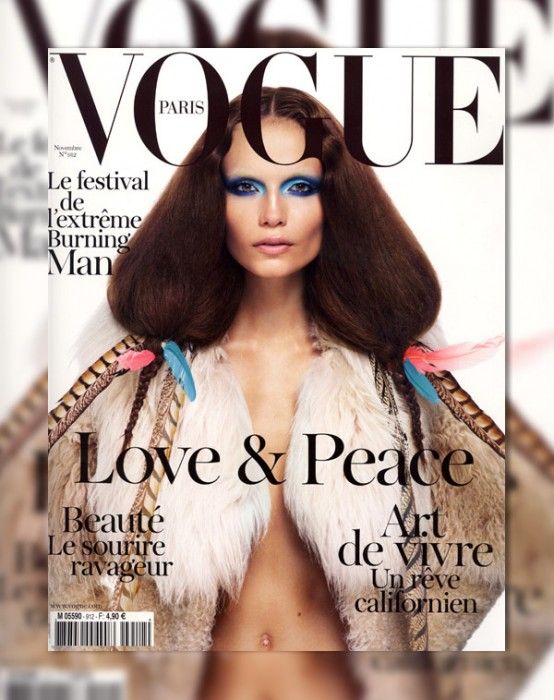 Vogue Paris November 2010 Cover | Natasha Poly by Mario Sorrenti