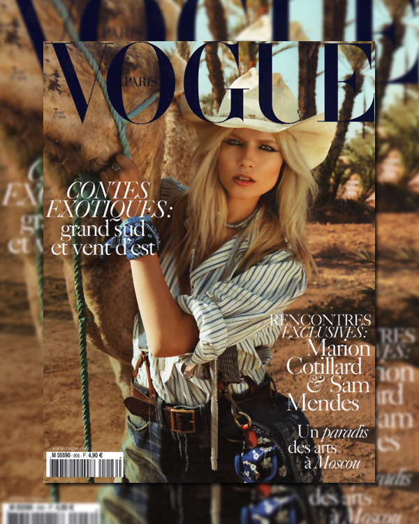 Vogue Paris April 2010 Cover | Natasha Poly by Inez & Vinoodh