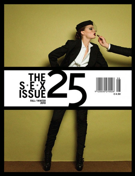 25 Magazine Fall / Winter 2010 Cover | Naty Chabanenko by Victor Demarchelier