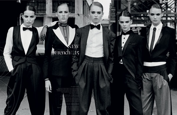 New Faces by Thierry Le Gouès for French Revue de Modes