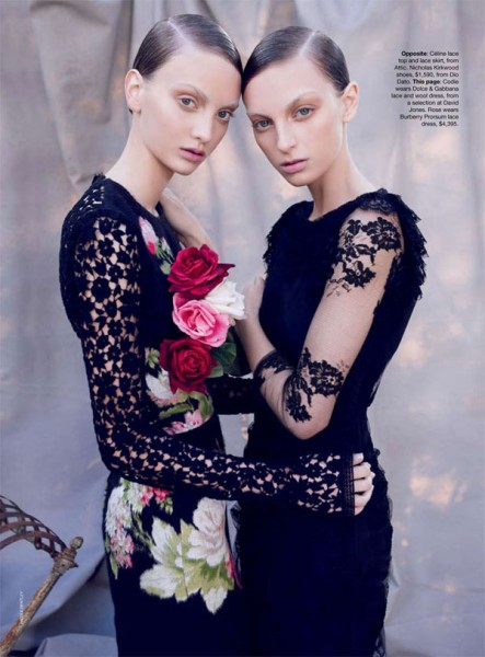 Codie Young &#038; Rosemary Smith by Nicole Bentley for <em>Vogue Australia</em> October 2010
