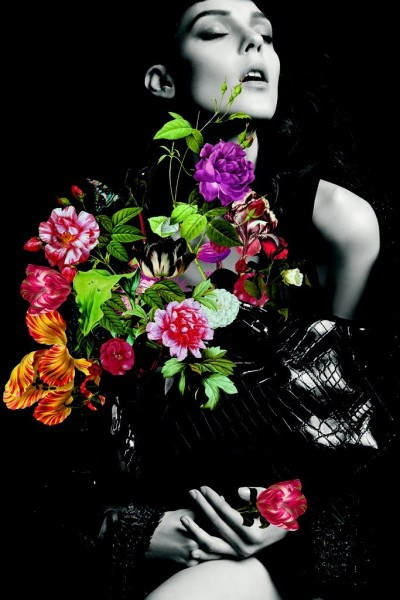 Kati Nescher is a Flower Girl for Nina Ricci's Fall 2012 Campaign by Inez & Vinoodh