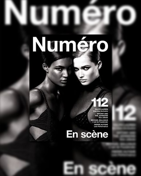 <em>Numéro</em> #112 April 2010 Cover | Sessilee Lopez & Toni Garrn
