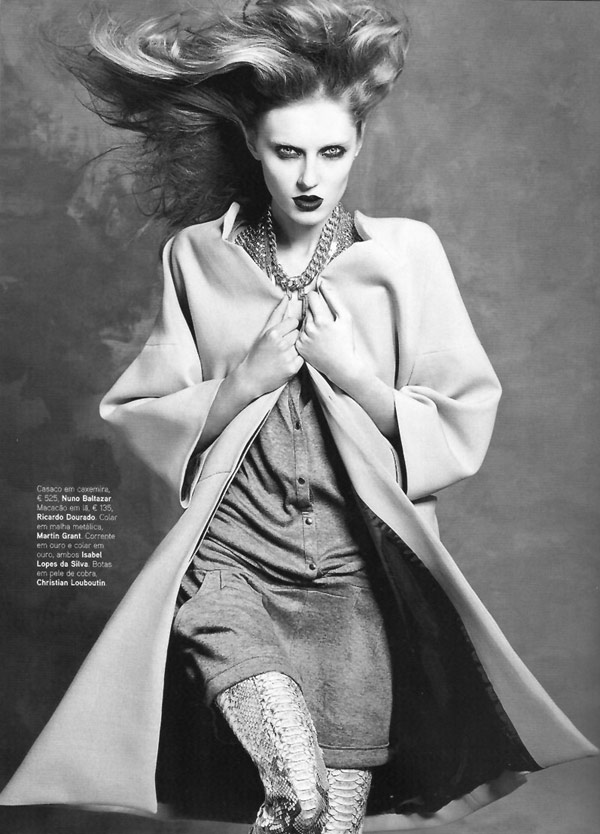 Olga Sherer for Vogue Portugal September 2010 by Bojana Tatarska