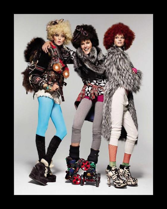 Caroline T, Iselin, Kasia, Toni & Anne V for Vogue Spain November 2010 by Patrick & Victor Demarchelier