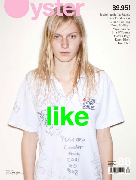Oyster Magazine #88 August 2010 Cover | Julia Nobis by Rene Vaile