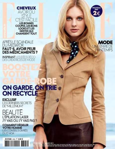 <em>Elle France</em> January 14, 2011 Cover | Patricia van der Vliet by Tesh