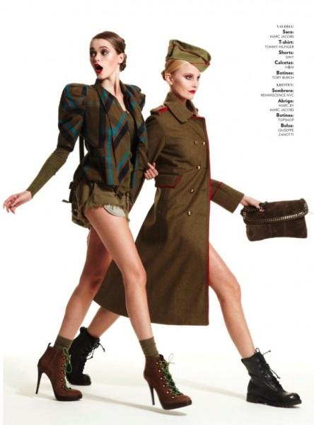 Kristen & Valeria by Hans Neumann for <em>Glamour Mexico</em> January 2011