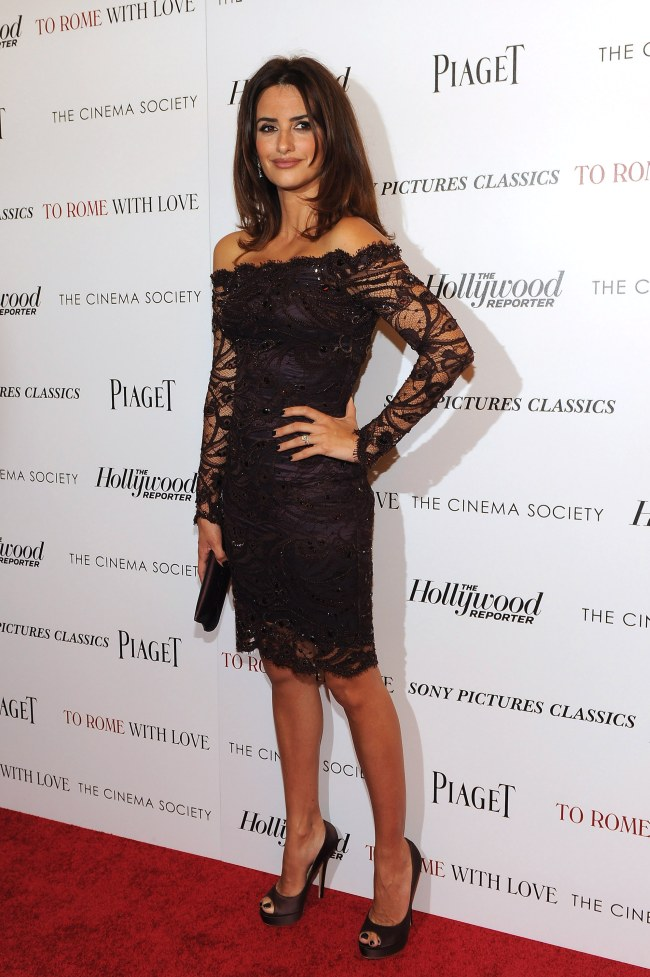 Penelope Cruz is Lacy in Emilio Pucci at the 'To Rome with Love' Screening