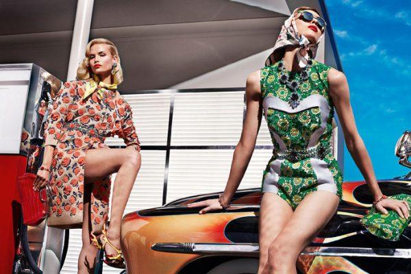 Natasha Poly, Meghan Collison, Elise Crombez, Ymre Stiekema & Katryn Kruger for Prada Spring 2012 Campaign by Steven Meisel