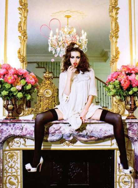 Little Miss Precious by Ellen von Unwerth for Elle US