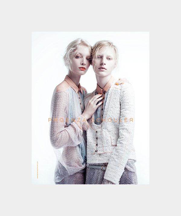 Proenza Schouler Spring 2011 Campaign   Melissa Tammerijn & Julia Nobis by Willy Vanderperre