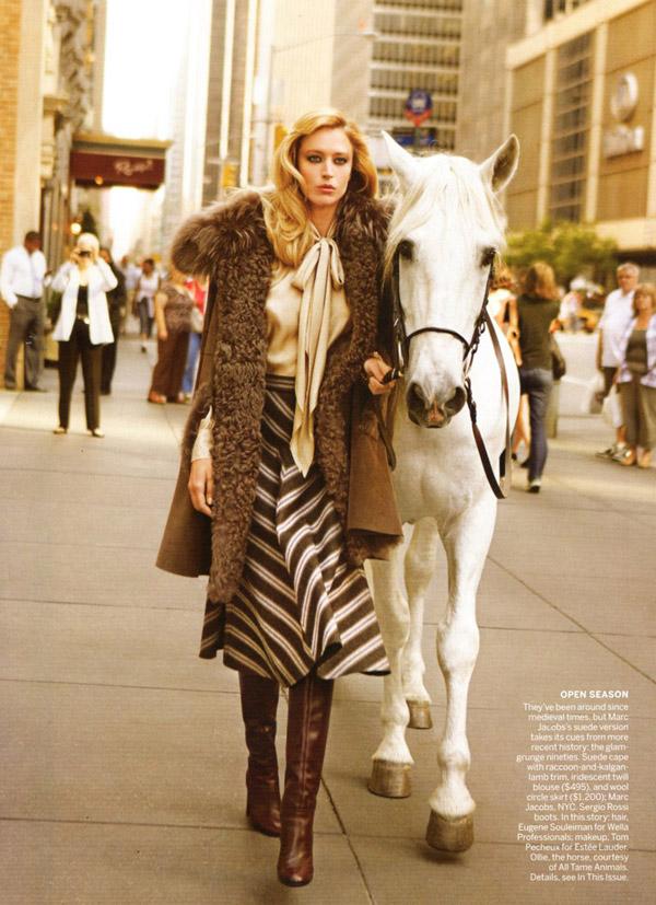Raquel Zimmermann for Vogue US August 2010 by Inez & Vinoodh