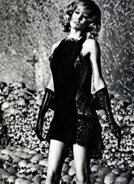 Raquel Zimmermann by Mario Sorrenti in Darker is the Memory | <em>Vogue Nippon</em> October 2010