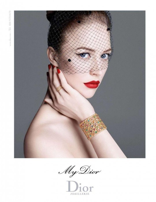 "Raquel Zimmermann for ""My Dior"" Jewelry 2012 Campaign by Steven Meisel"