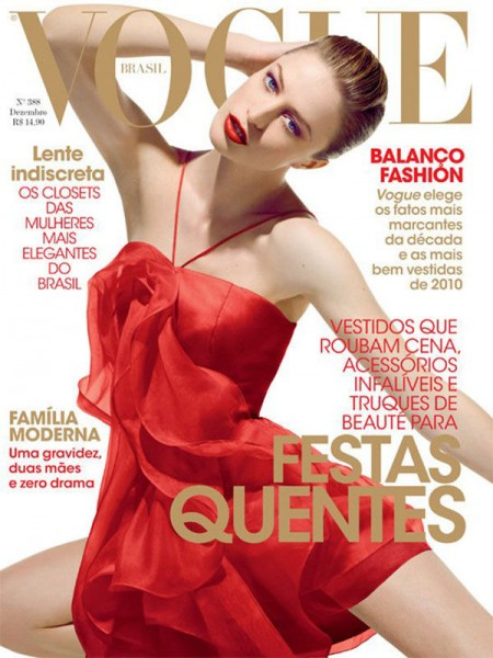 <em>Vogue Brazil</em> December 2010 Cover | Raquel Zimmermann by Henrique Gendre