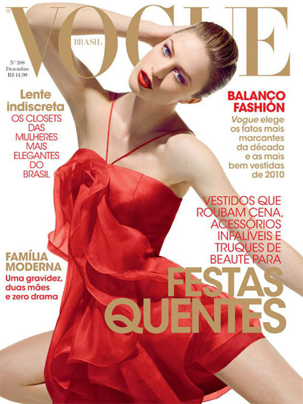 Vogue Brazil December 2010 Cover | Raquel Zimmermann by Henrique Gendre