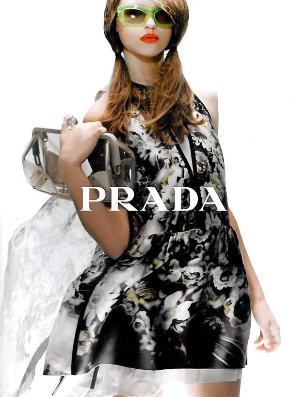 Prada S/S Campaign Preview | Rasa Zukauskaite by Steven Meisel