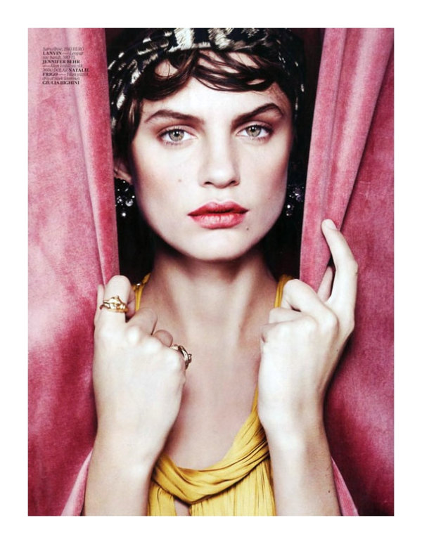 Regina Feoktistova by Benny Horne for Vogue Turkey February 2011